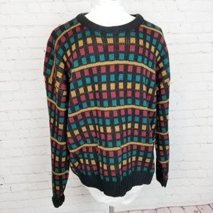 Vintage|Colorful Knit Ugly Grandpa Sweater